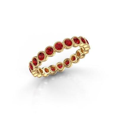 Foto van Ring Mariam 0.05 375 goud robijn 2.4 mm