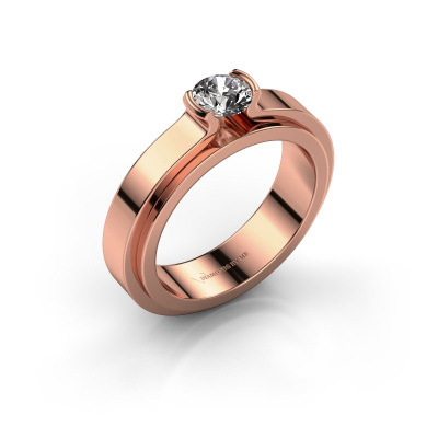 Verlobungsring Jacinda 585 Roségold Diamant 0.40 crt