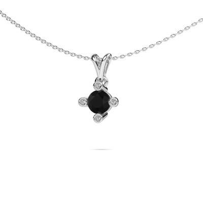 Foto van Hanger Cornelia Round 375 witgoud zwarte diamant 0.80 crt