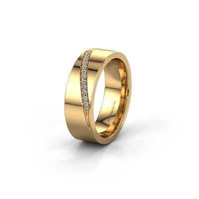 Foto van Trouwring WH2146L17A 585 goud diamant ±7x1.7 mm