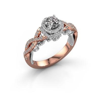 Verlobungsring Leora 585 Roségold Diamant 0.93 crt