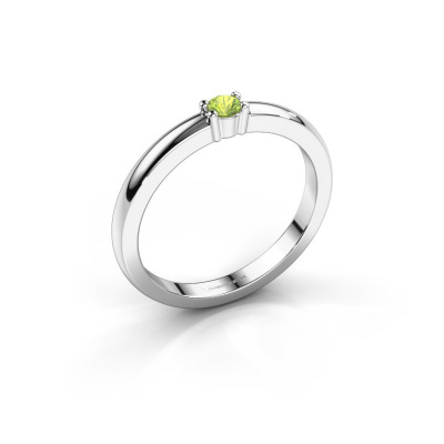 Picture of Promise ring Yasmin 1 950 platinum peridot 2.7 mm