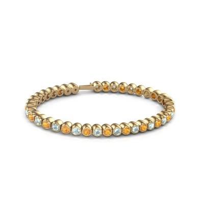 Tennisarmband Mellisa 375 goud citrien 3.5 mm