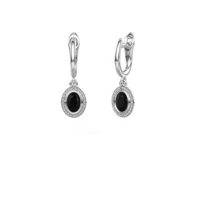 Foto van Oorhangers Noud OVL 950 platina zwarte diamant 0.60 crt