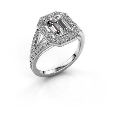 Promise ring Angelita EME 950 platina zirkonia 8x6 mm