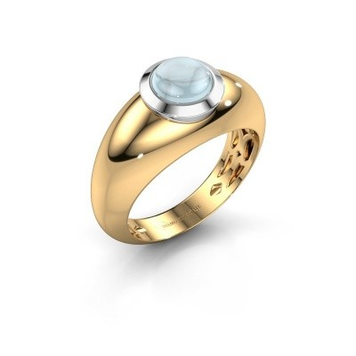 Ring Sharika 585 goud aquamarijn 6 mm
