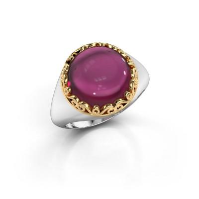 Ring Birgit 585 witgoud rhodoliet 12 mm