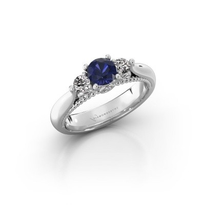 Picture of Engagement ring Tiffani 925 silver sapphire 5 mm