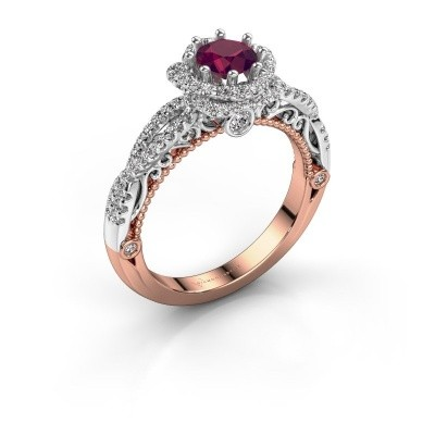Picture of Engagement ring Lysanne 585 rose gold rhodolite 5 mm