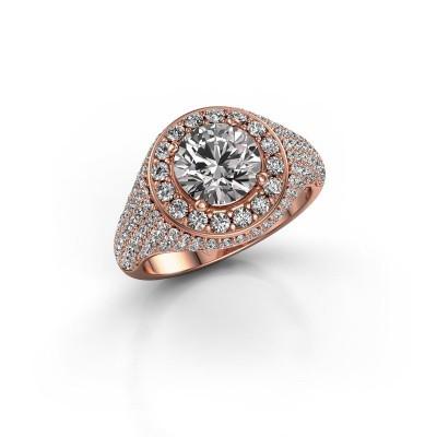 Foto van Ring Dayle 375 rosé goud diamant 2.463 crt