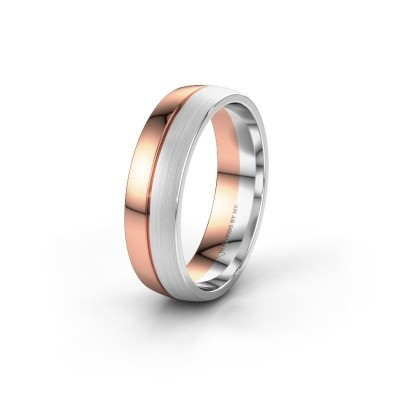 Wedding ring WH0200M25APM 585 rose gold ±0.24x0.07 in