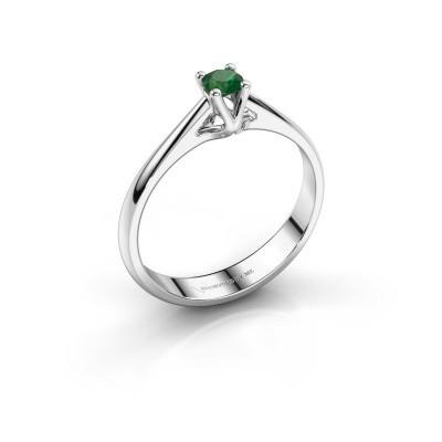 Engagement ring Janna 1 950 platinum emerald 3.4 mm