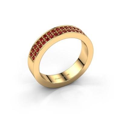 Aanschuifring Catharina 4 375 goud robijn 1.3 mm