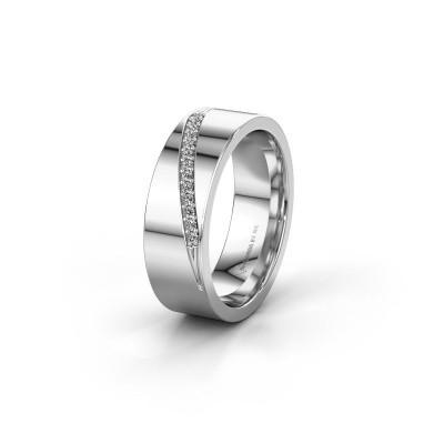 Trouwring WH2146L17A 950 platina diamant ±7x1.7 mm