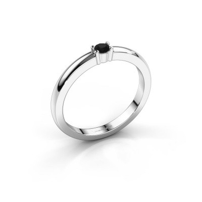 Picture of Promise ring Yasmin 1 585 white gold black diamond 0.096 crt