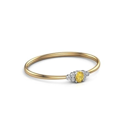 Picture of Bangle Lucy 585 gold yellow sapphire 8x6 mm