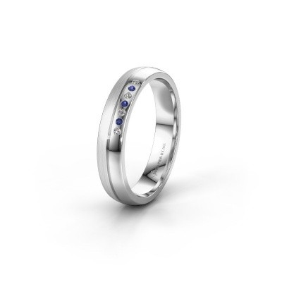 Wedding ring WH0216L24APM 925 silver sapphire ±4x1.7 mm