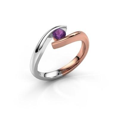 Engagement ring Alaina 585 rose gold amethyst 4 mm