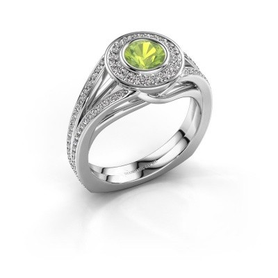 Picture of Ring Kellee 585 white gold peridot 5 mm