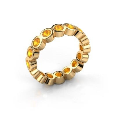 Stackable ring Edwina 3 375 gold citrin 3 mm