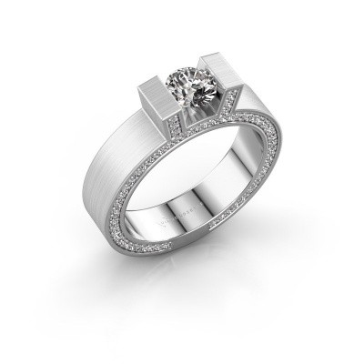 Foto van Ring Leena 2 950 platina diamant 1.08 crt