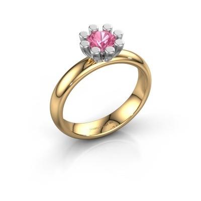 Stapelring Carola 1 585 goud roze saffier 5 mm