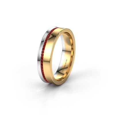 Wedding ring WH6090L55A 585 gold ruby ±0.20x0.07 in