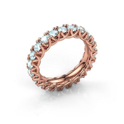 Ring Fenna 585 rosé goud aquamarijn 3 mm