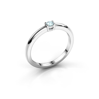 Picture of Engagement ring Michelle 1 925 silver aquamarine 2.7 mm