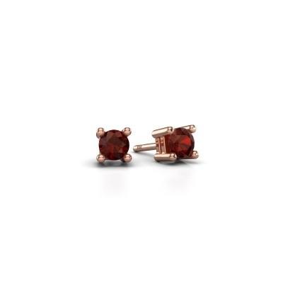 Foto van Oorknopjes Eline 375 rosé goud granaat 4 mm