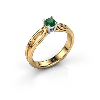 Engagement ring Antonia 1 585 gold emerald 4 mm