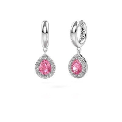 Picture of Drop earrings Barbar 1 950 platinum pink sapphire 8x6 mm