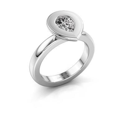 Steckring Eloise Pear 950 Platin Lab-grown Diamant 0.65 crt