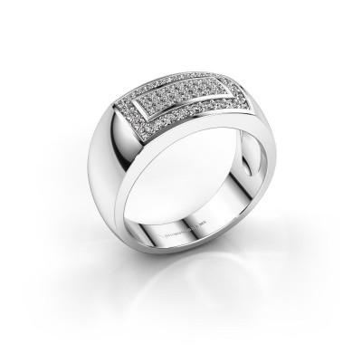 Foto van Mannen ring Lorenzo 925 zilver zirkonia 1.1 mm
