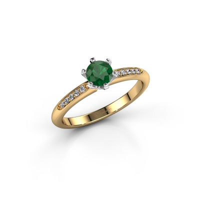 Picture of Engagement ring Tiffy 2 585 gold emerald 4.7 mm