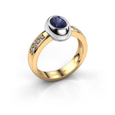Ring Charlotte Oval 585 gold sapphire 7x5 mm