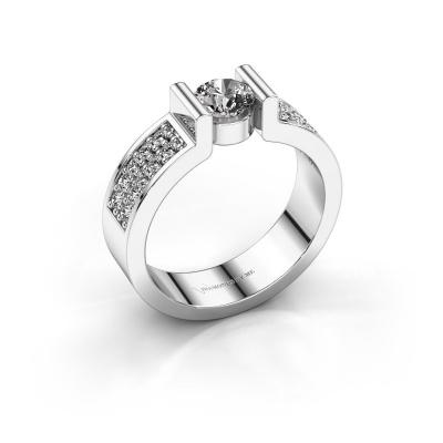 Engagement ring Isabel 3 950 platinum zirconia 5 mm