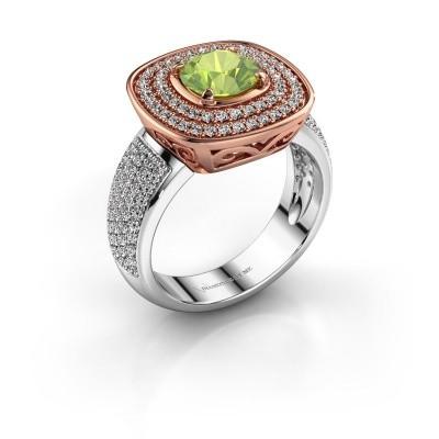 Ring Eliana 585 rosé goud peridoot 6 mm