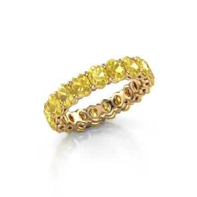 Aanschuifring Heddy OVL 3.5x4.5 375 goud gele saffier 4.5x3.5 mm