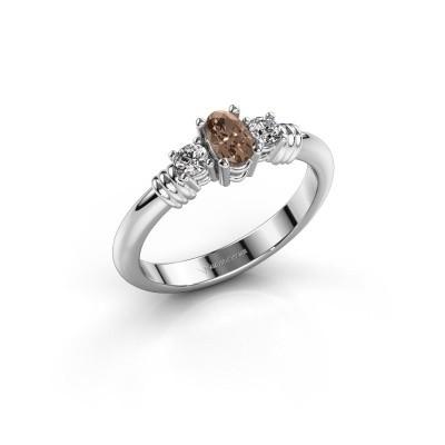 Foto van Promise ring Pippa 585 witgoud bruine diamant 0.51 crt