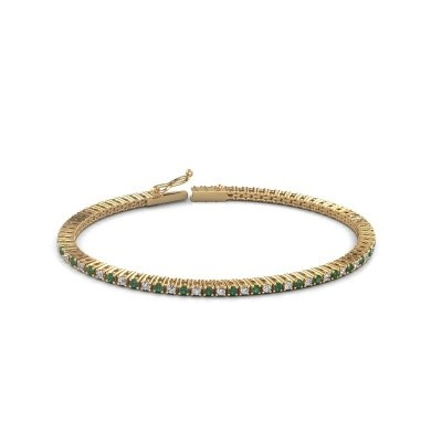Tennis bracelet Simone 375 gold emerald 2 mm
