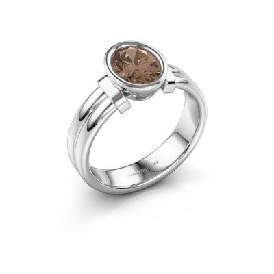 Bague Gerda 925 argent diamant brun 1.15 crt