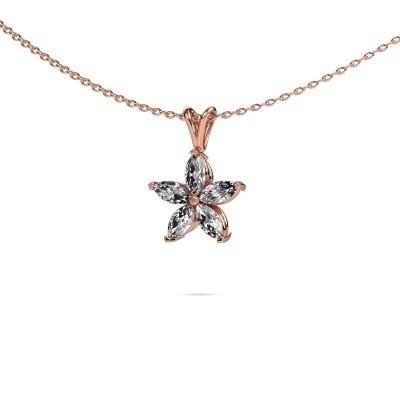 Foto van Ketting Sylvana 375 rosé goud diamant 0.14 crt