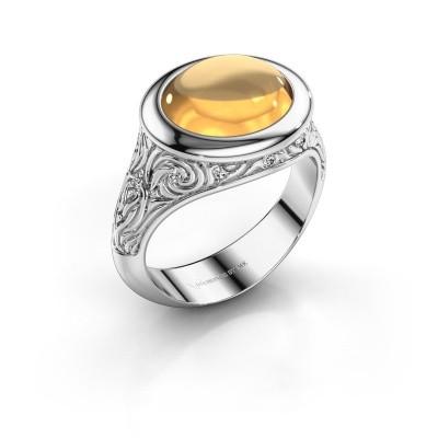 Ring Natacha 375 witgoud citrien 12x10 mm