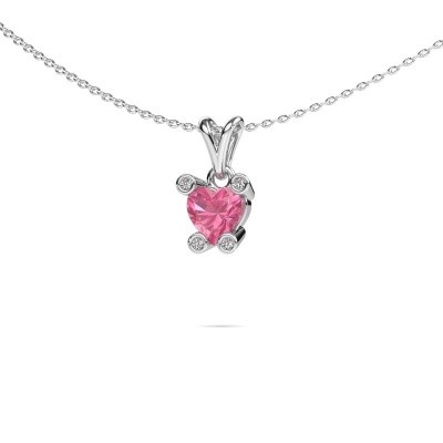 Picture of Necklace Cornelia Heart 950 platinum pink sapphire 6 mm