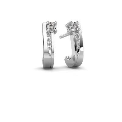 Oorbellen Jewell 585 witgoud diamant 0.218 crt