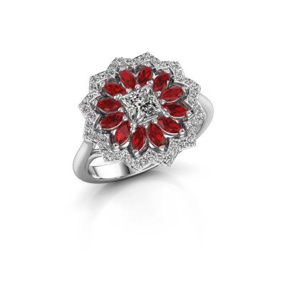 Foto van Verlovingsring Franka 585 witgoud diamant 0.62 crt