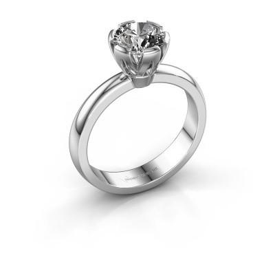 Verlovingsring Julia 925 zilver diamant 1.00 crt