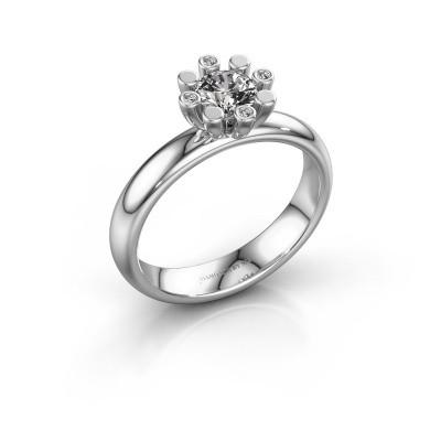 Stapelring Carola 2 925 zilver lab-grown diamant 0.52 crt
