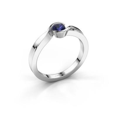 Foto van Ring Lola 925 zilver saffier 4 mm